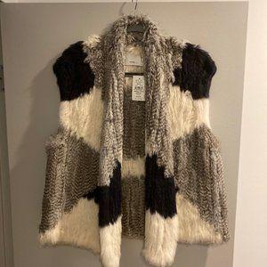 NWT Vince Rabbit Fur Vest